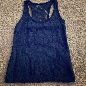 Girls Abercrombie lace tank, S
